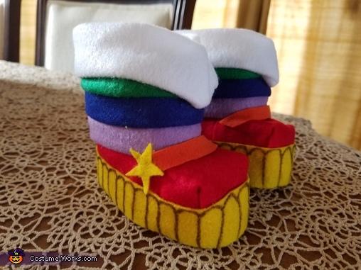 Boots, Rainbow Brite Costume