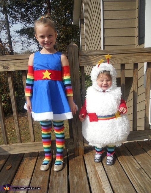 Rainbow Brite and Twink - Homemade costumes for girls