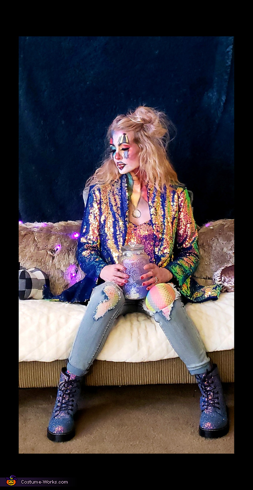 Rainbow Clown Homemade Costume
