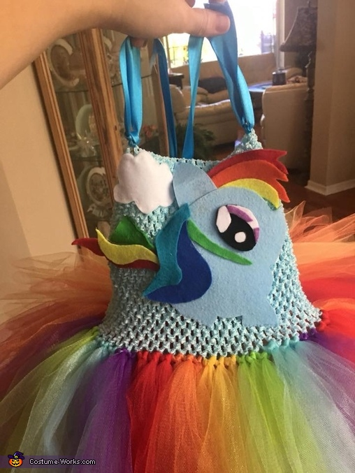Rainbow Dash made from felt, Rainbow Dash Equestria Girl Costume