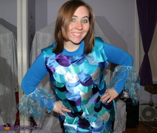 Rainbow Fish Homemade Costume