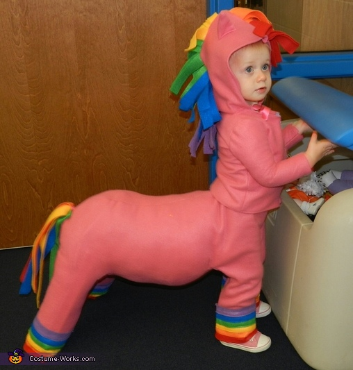 Story Time Halloween Party, Rainbow Horse Baby Costume