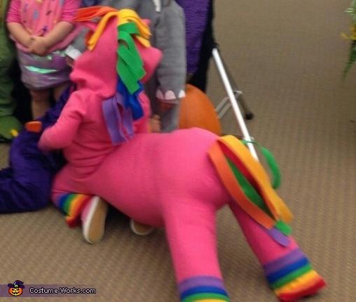 Sitting , Rainbow Horse Baby Costume