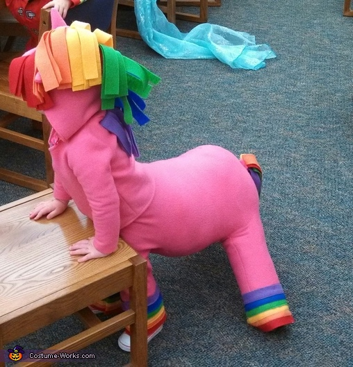 Side View, Rainbow Horse Baby Costume