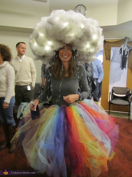 Just the rainbow storm (at my work party), Rainbow Storm with the Pot of Gold Costume