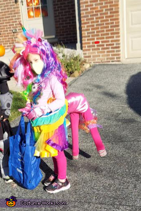Rainbow Unicorn from the front, Rainbow Unicorn Costume
