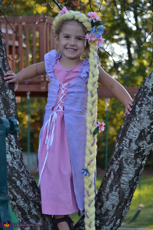 Rapunzel Costume for a Girl