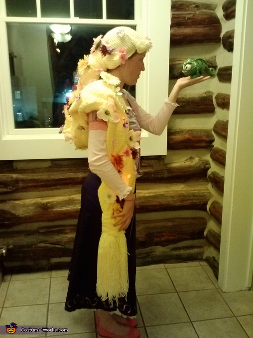 From the side, Homemade Rapunzel Costume