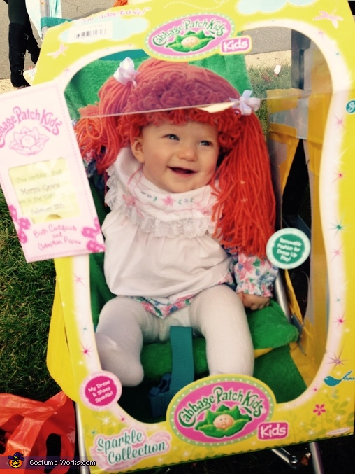 At the end of the Parade - ready to break out of the Box!, Real Life Cabbage Patch Doll Costume
