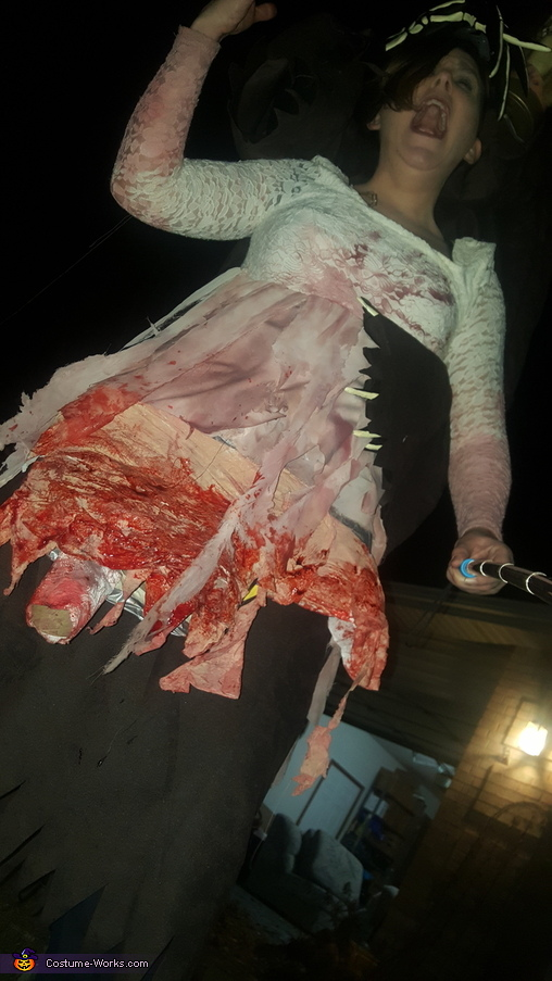 lower picture showing leg detail, Reaper and his Mangled Victim Costume