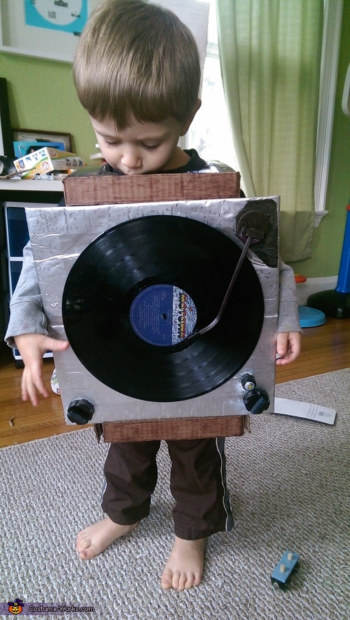 Record Player Homemade Costume
