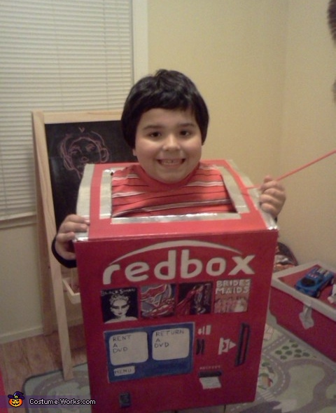Red Box Kiosk Costume