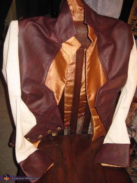 vest with sleeves and faux shirt, Red Handed Jill Costume