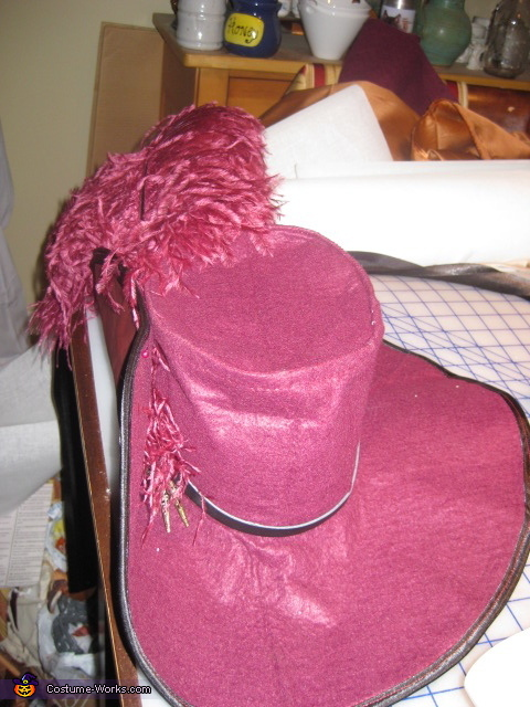 1st ever cavalier hat, Red Handed Jill Costume