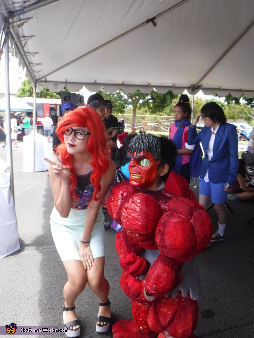 A fan requested photo OP, Red Hulk Costume