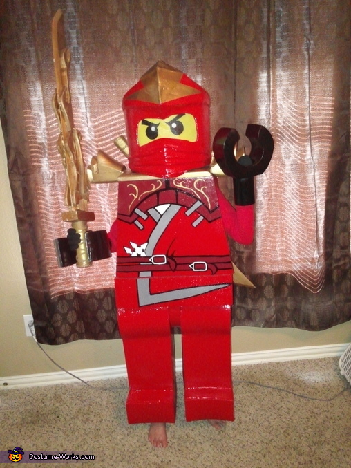 here is my sword, Lego Ninjago Red Ninja Costume