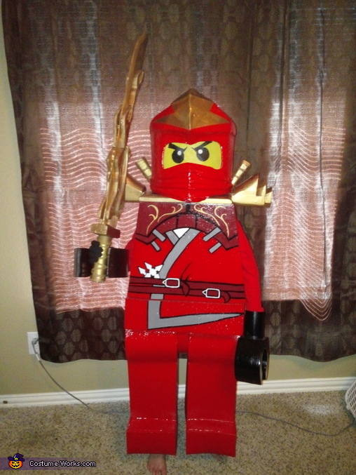 Red Ninjago Homemade Costume