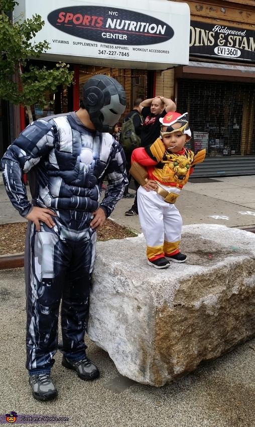 Red Power Ranger and War Machine Costume