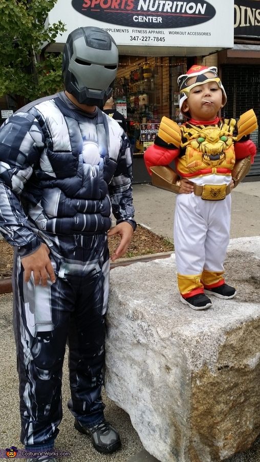 Red Power Ranger and War Machine Costume