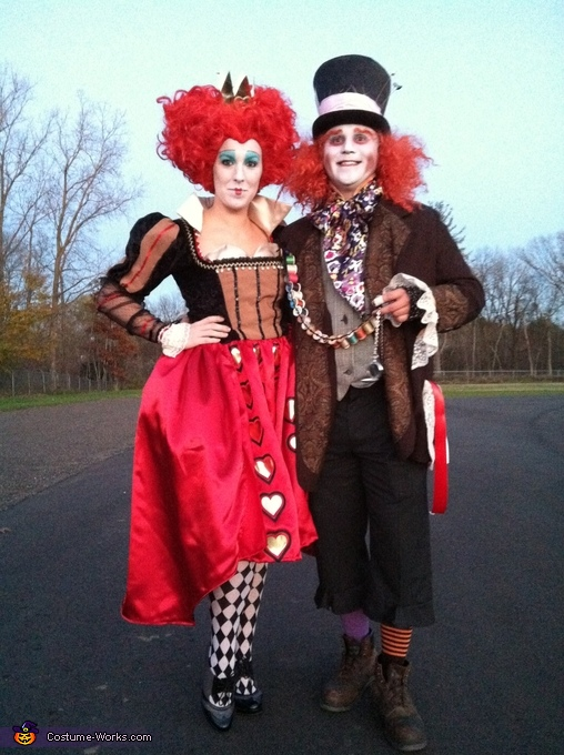 Red Queen and the Mad Hatter Costume