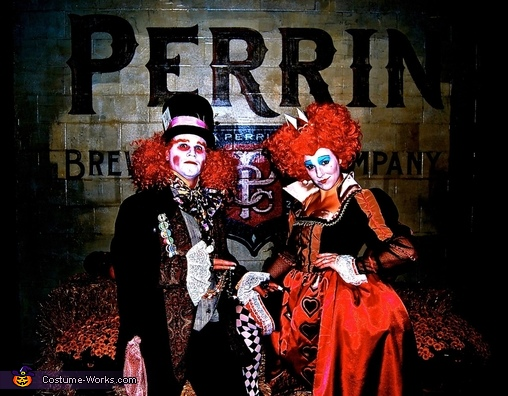 During the Perrin Brewery Halloween Party. Professional shot..., Red Queen and the Mad Hatter Costume
