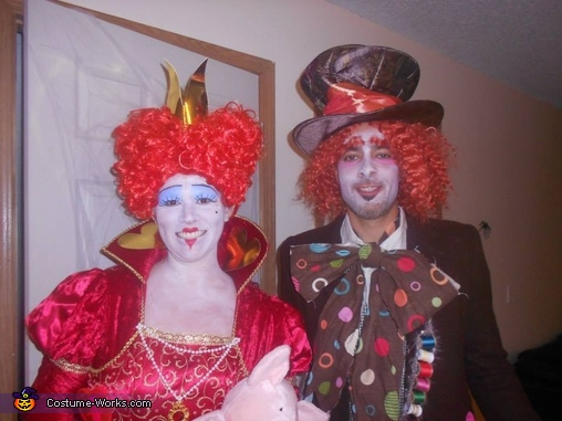 Red Queen and the Mad Hatter Homemade Costume