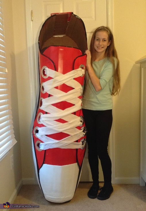 This is me and my costume, Red Shoe Costume