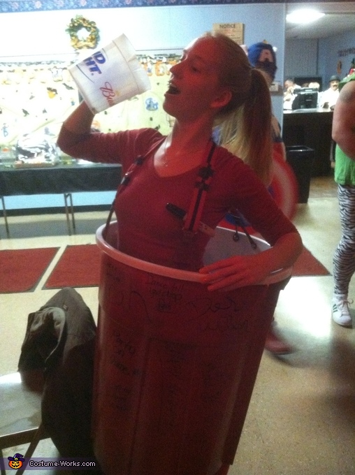 Everyone wanted to poor beer in me., Red Solo Cup Costume