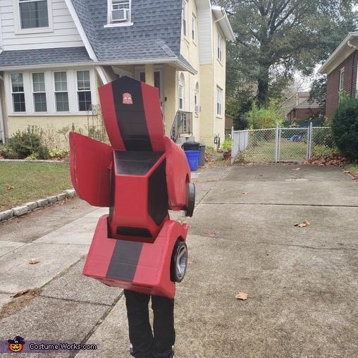 Robot Form Back End, Red Transformer Costume