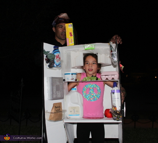 Walking around the neighborhood , Refrigerator Costume