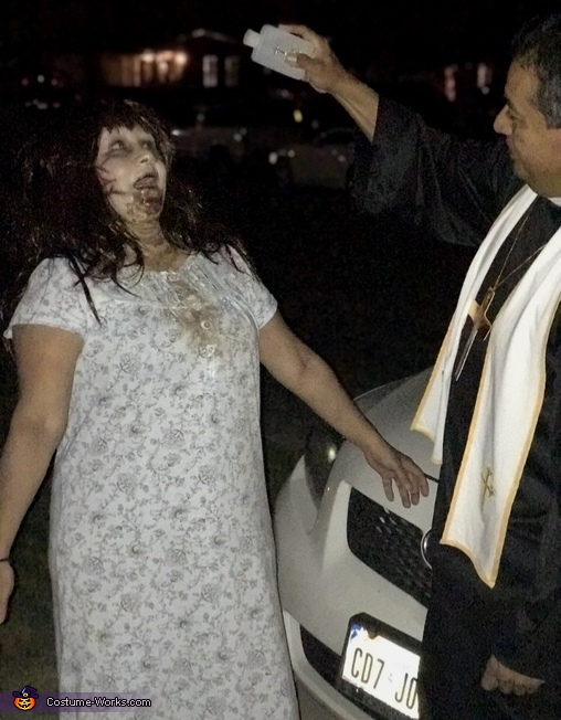 Regan and the Priest The Exorcist Homemade Costume