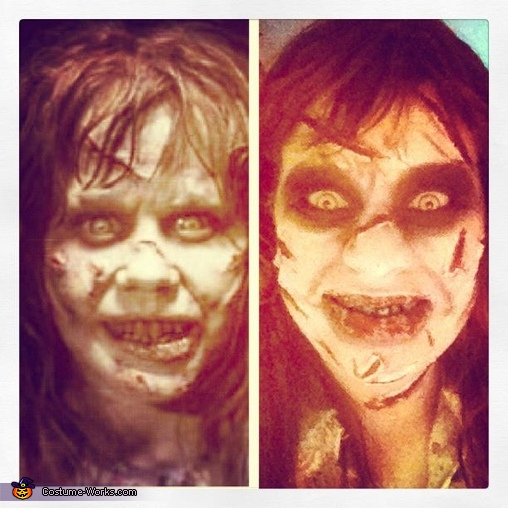 Regan comparison, Regan from The Exorcist Costume
