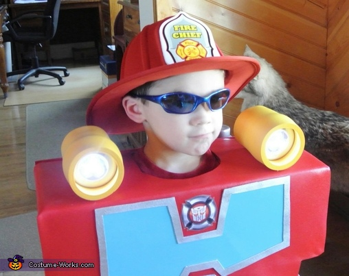 Lights On, Rescue Bot Heatwave Costume