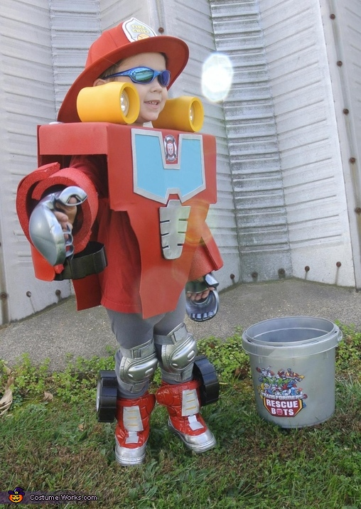 Side View, Rescue Bot Heatwave Costume