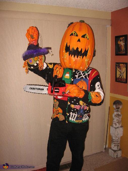 Return Of The Holiday Sweat Pumpkinhead  Costume