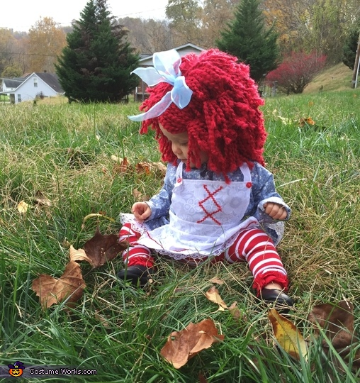 'Raggedy thinks the leaves are too Rugged', Revamped Raggedy Ann Costume