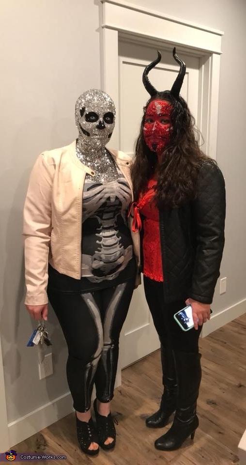 Rhinestoned Skeleton Costume