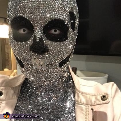 Rhinestoned Skeleton Homemade Costume