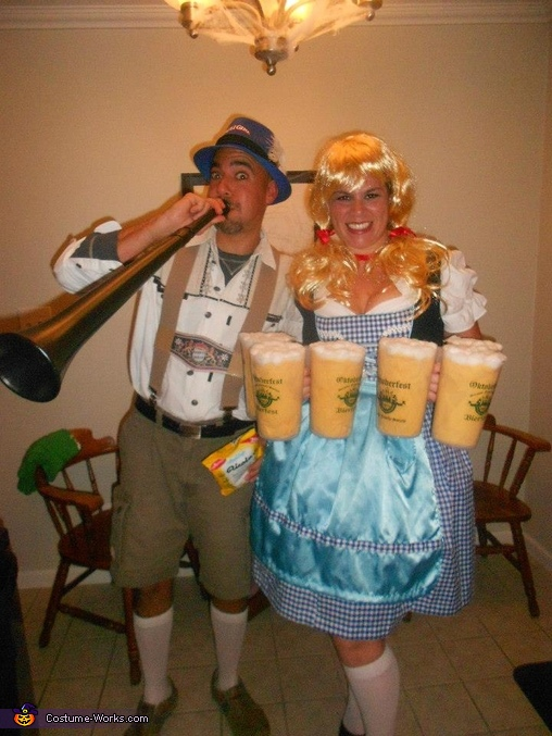 Ricola Man and St Paulie Girl Costume