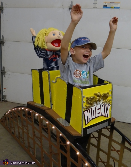 Riding a roller coaster halloween costume idea for Homemade coaster ideas