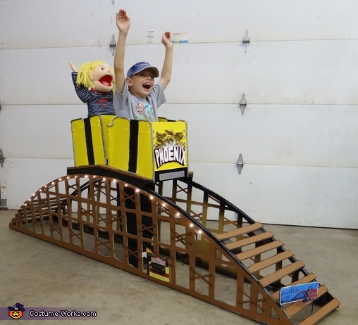 The complete costume, Riding a Roller Coaster Costume