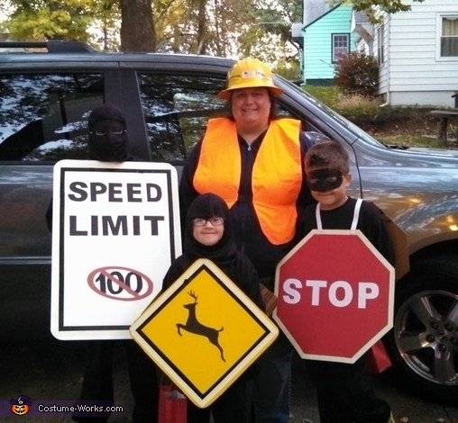Road Signs Family Costume