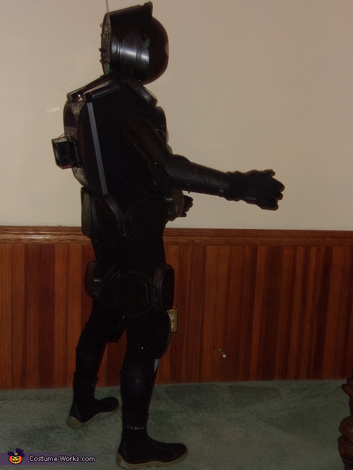 Right side view with arm extended, Robot Costume