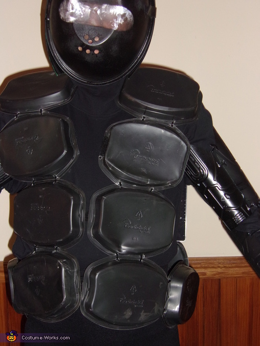 Front view of the torso and head piece, Robot Costume