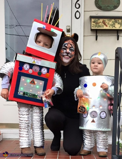 Robot Boys and Tiger Mom Costume