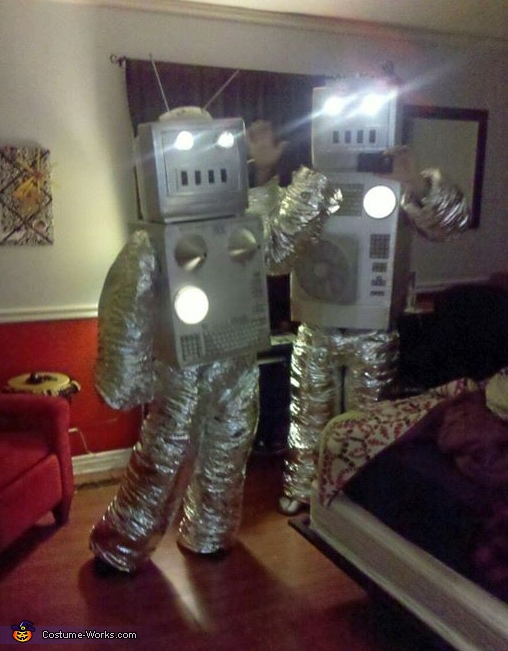 From a prank at our friend's house!, Robots Couple's Costume