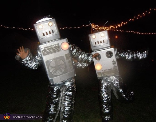 Robots Couple's Costume