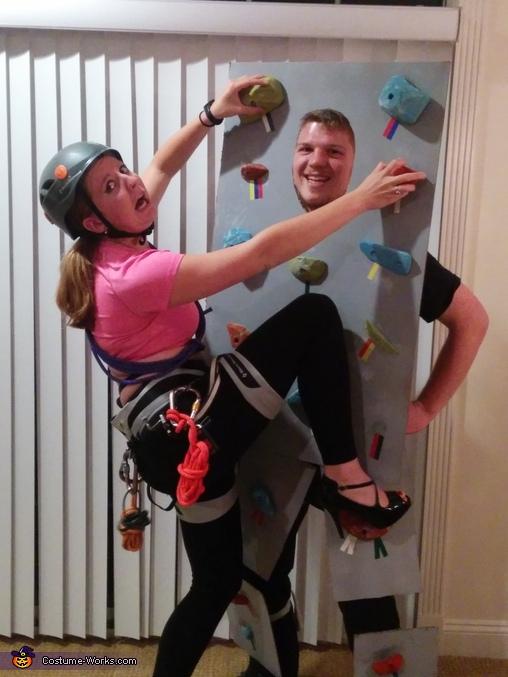 Intense rock climbing!, Rock Climbing Costume