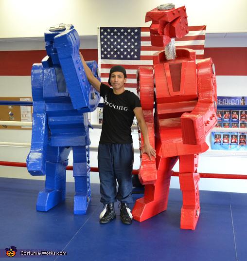 Yes, the heads pop up!!!, Rock Em Sock Em Robots Costume