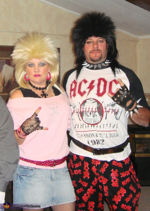 80's Rockers - Homemade costumes for couples
